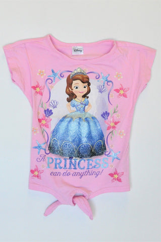 Disney Pink A Princess Can Do Anything T-shirt Girls 6-7 years