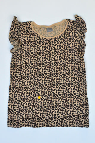 Next Brown Leopard Print T-shirt Girls 5-6 years