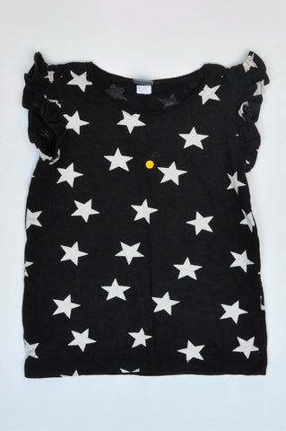 Next Black & White Star T-shirt Girls 5-6 years