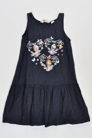 H&M Navy Sleeveless Frozen Dress Girls 7-8 years