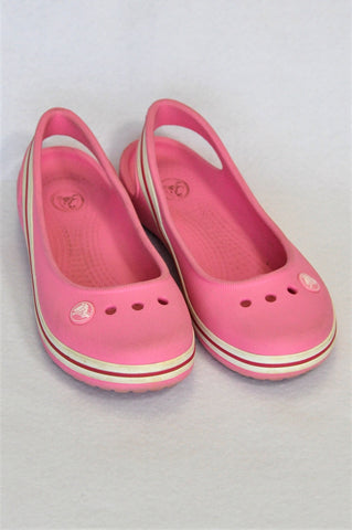 Crocs Pink Slingback Shoes Girls Youth Size 1