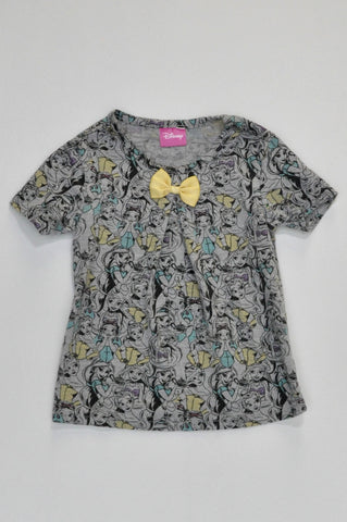 Disney Grey Princess T-shirt Girls 2-3 years