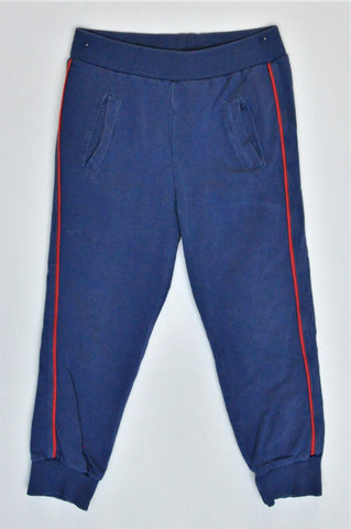 Filip Blue With Red Stripe Banded Pants Unisex 2-3 years