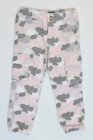 KDS Pink Camo Stretch Jeans Girls 2-3 years