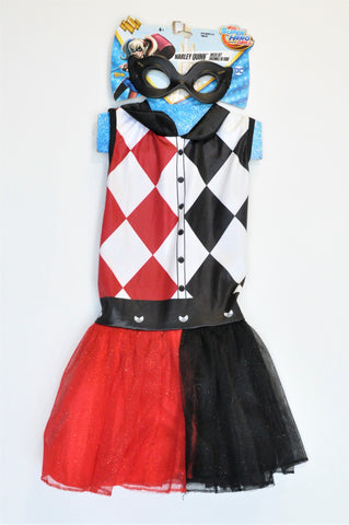 New DC Harley Quinn Outfit Girls 4-6 years