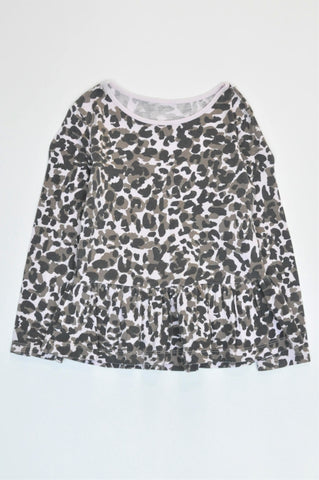 Woolworths Leopard Print Long Sleeve Top Girls 5-6 years