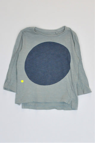 Cotton On Light Green & Blue Circle Long Sleeve T-shirt Boys 9-12 months