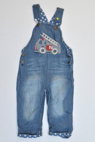Pick 'n Pay Blue Denim Fire Truck Dungarees Boys 12-18 months