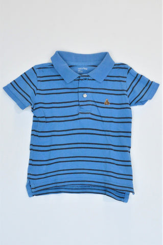 GAP Blue & Black Striped Short Sleeve T-shirt Boys 18-24 months