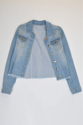 Woolworths Light Raw Hem Denim Jacket Girls 11-12 years