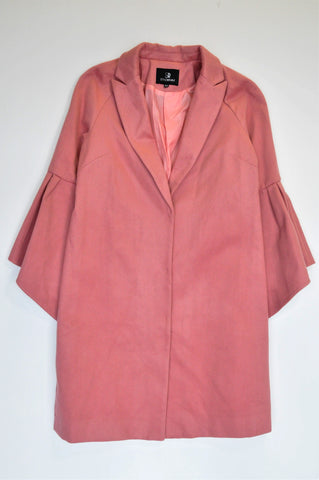 Style Republic Dusty Pink Bell Sleeve Long Length Jacket Women Size 32