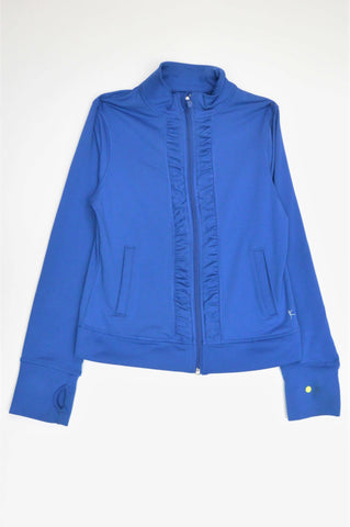 Danskin Now Royal Blue Ruched Zip Sports Jacket Girls 7-8 years