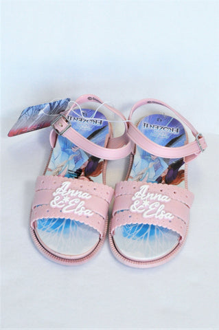 New Disney Pink Anna & Elsa Frozen Sandals Girls Children Size 12