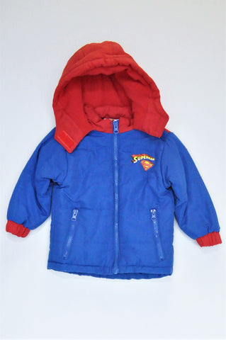 Mr. Price Blue & Red Superman Hooded Jacket Boys 1-2 years