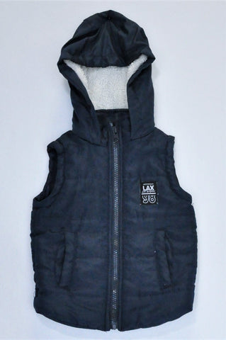 Mr. Price Navy Sleeveless Puffer Jacket Boys 1-2 years