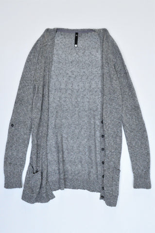 Woolworths Grey Textured Cardigan Women Size XS
