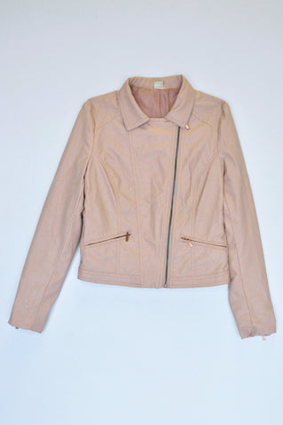 Insync Dusty Pink Zip Pocket Jacket Women Size S