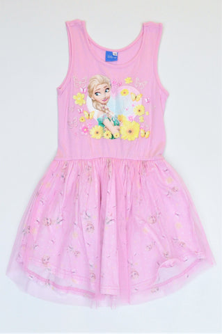 Disney Pink Sleeveless Frozen Tutu Dress Girls 9-10 years