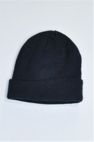 Woolworths Navy Knitted Beanie Unisex 8+ years
