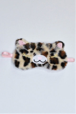 Unbranded Leopard Pink Strap Eye Mask Girls 10+ years