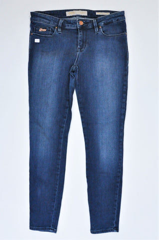 Guess Navy Basic Low Rise Skinny Jeans Women Size 8