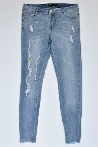 IQ Jeans Blue Ripped Skinny Jeans Women Size 32
