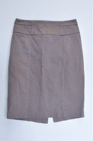 Woolworths Brown Knee Length Skirt Women Size 6