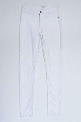 Cherokee White Stretch Mid Rise Skinny Jeans Women Size 8