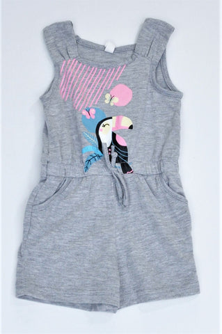 Pick 'n Pay Grey Bird Romper Girls 1-2 years