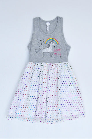 Pick 'n Pay Grey Unicorn Tulle Dress Girls 2-3 years