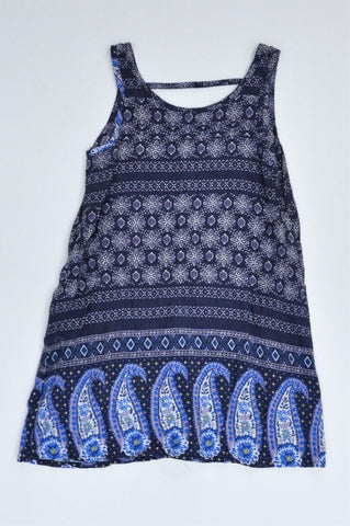 Pick 'n Pay Navy Paisley Lightweight Dress Girls 2-3 years