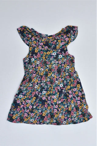 Mr. Price Navy Floral Dress Girls 1-2 years