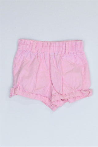 Ackermans Pink Banded Shorts Girls 18-24 months