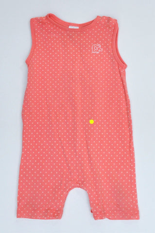 Target Pink & White Polka Dot Sleeveless Romper Girls 6-12 months