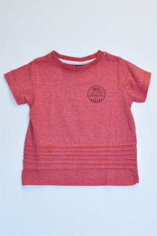 Mr. Price Red Marl 'Brklyn' Short Sleeve T-shirt Boys 4-5 years