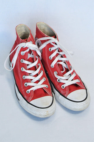 Converse Red High Top Shoes Unisex Youth Size 5