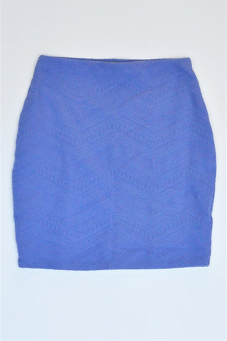 Forever New Pastel Purple Embroidered Chevron Pattern Mini Skirt Women Size XS