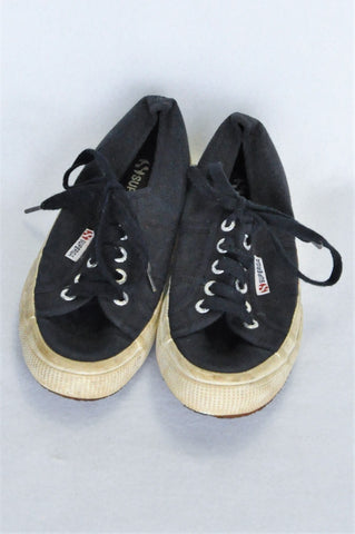 Superga Navy Shoes Girls Youth/Women Size 4.5