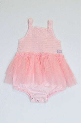 Naartjie Pink Strappy Tulle Baby Grow Girls 12-18 months