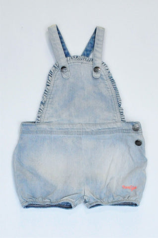 Naartjie Light Blue Distressed Dungaree Boys 12-18 months
