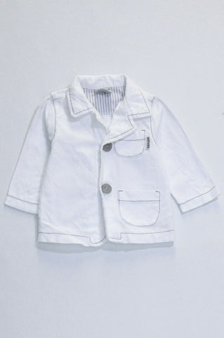 Keedo White Long Sleeve Shirt Boys 3-6 months