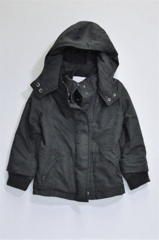 Pick 'n Pay Dark Grey Fleece Lined Winter Jacket Boys 3-4 years