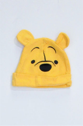 Woolworths Yellow Winnie-The-Pooh Beanie Unisex 3-6 months