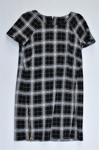 Woolworths Black & White Check Pattern Dress Women Size 10