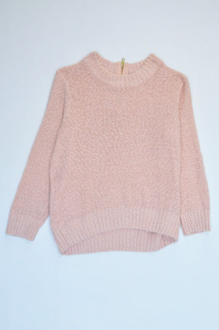 H&M Pink Knit Rear Zip Jersey Women Size S