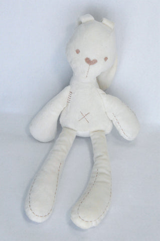 Mamas & Papas White Bunny Soft Toy Unisex N-B to 3 years