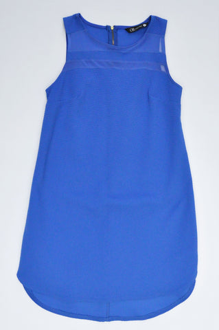 Mr. Price Royal Blue Textured Sleeveless Dress Women Size 8