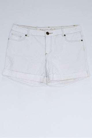 Pick 'n Pay White Stretch Shorts Women Size 12