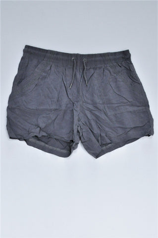 Woolworths Grey Lightweight Shorts Women Size 8