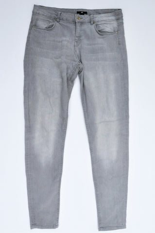 H&M Grey Stretch Skinny Jeans Women Size 12